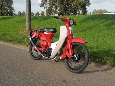 Fully restored! Honda C50 OT Japanese, Red, 3321 km, with papers