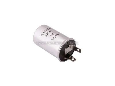 Knipperrelais 6 volt 10 tot 21 watt lampjes cilinder