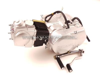 Motorblok, 107cc, semi-automaat, Lifan, 4-bak, zilver