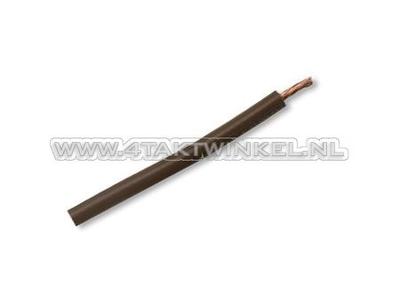 Draad per meter 0,75mm2, bruin