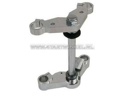 T-stuk & kroonplaat set Monkey 30mm, standaard breedte, aluminium
