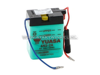 Accu 6 volt 2 ampere, Dax, SS50, zuur accu, Yuasa