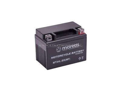 Accu 12 volt 4 ampere gel / AGM, MTX4L-BS