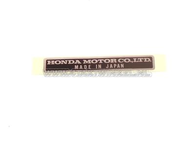 Sticker made in Japan, origineel Honda