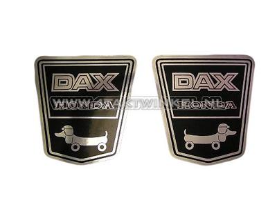 Sticker Dax embleem onder zadel, funny dog set links & rechts