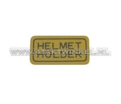 Sticker helmet holder, origineel Honda
