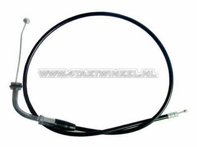 Gaskabel, Dax replica (PBR, Monkey), met bochtje, zwart