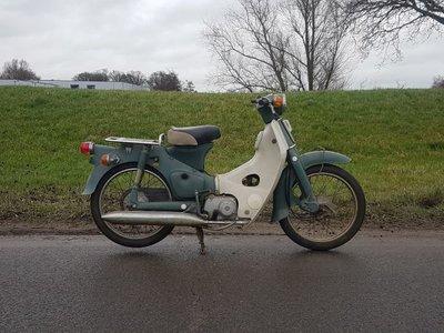 Opslag, Honda C50 OT Japans, groen, 1047 km