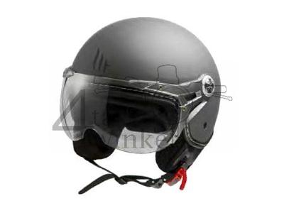 Helm MT, Le Mans Soul Retro grijs , Maten XS t/m XXL