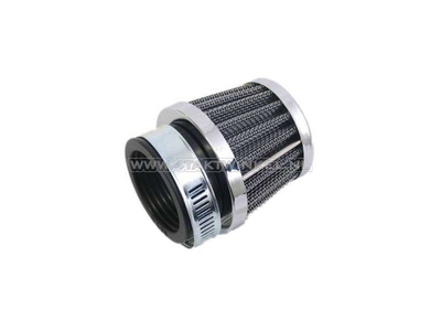 Powerfilter 39mm, recht, zwart