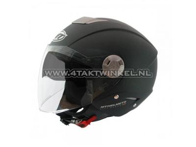 Helm MT, Jet, City Eleven, mat zwart, Maten XS t/m XL