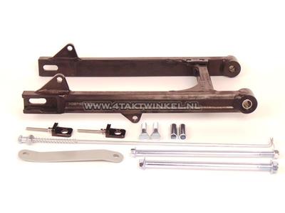 Achterbrug C50, SS50, CD50 aluminium, Kepspeed, +6cm, zwart