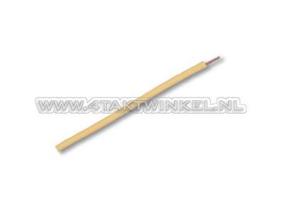 Draad per meter 0,75mm2, geel