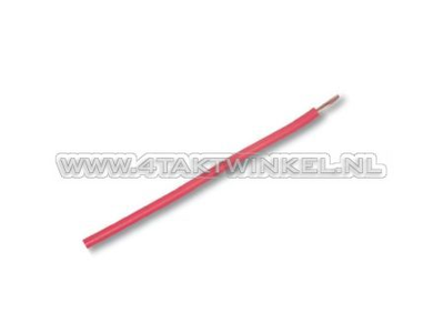 Draad per meter 0,75mm2, rood