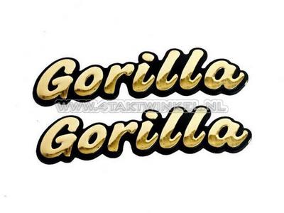 Embleem Gorilla, set, goud