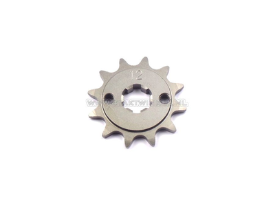 Voortandwiel, 415 ketting, 17mm as, 12, C310, PC50, PS50
