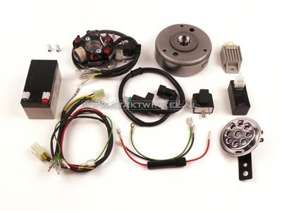 CDI ontsteking ombouw set & 12 volt elektra CB50, CY50