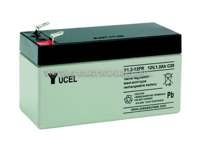 Accu 12 volt 1,2 ampere gel Yucel