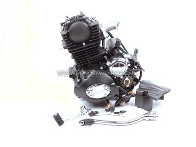 Engine, 50cc, manual clutch, Lifan, (Mash) 4-speed, vertical cylinder, with starter, black