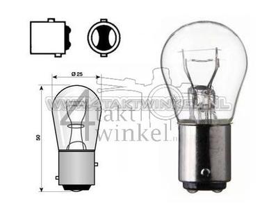 Rear bulb duplo BAY15D, 12 volt, 18-5 watt