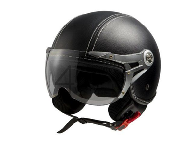 Helmet MT, Le Mans Soul Retro, leather black, Sizes XS to XXL
