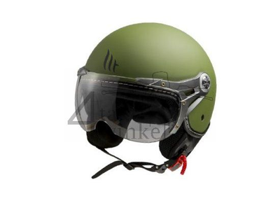 Helmet MT, Le Mans Soul Retro, green, Sizes XS to XXL