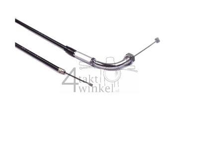 Throttle cable, CB50, CY50, XL50, 83cm, chrome bend, original Honda