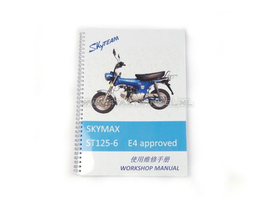 Workshop manual, Skyteam Dax, 125cc, euro4