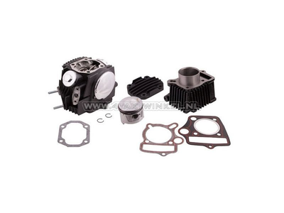 Cylinder kit, with piston & gasket & cylinder head 70cc, AGM, Hanway, Skyteam, with EGR connection, black
