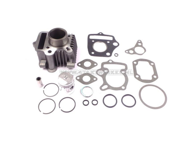 Cylinder kit, with piston & gasket 50cc, Honda OT, aluminum, Japanese