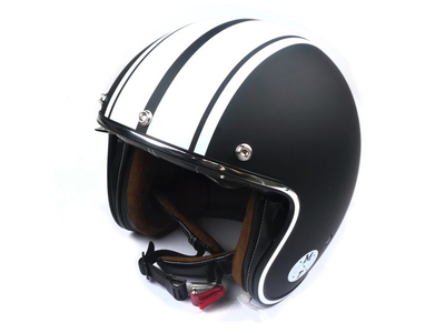 Helmet MT, Le Mans Speed, Matt black / white, Sizes S to XL