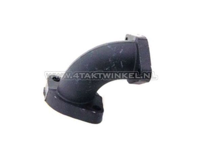 Manifold 24mm, angled to the left, wide flange, black
