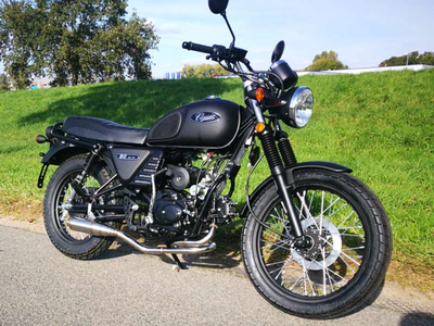 Exhaust tuning, AGM Cafe Racer, Skyteam Classic, Kepspeed, stainless steel