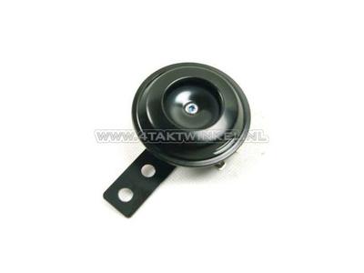 Horn 6 volt, universal bracket, black