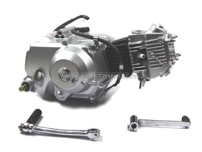 Engine, 70cc, semi-automatic, Lifan, 4-speed, silver