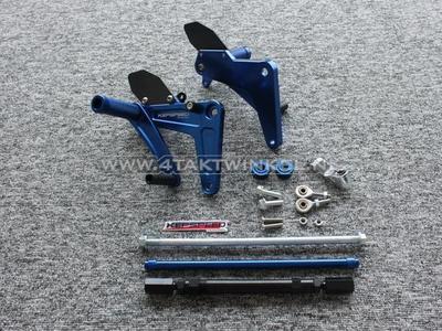 Backstep kit, C50, C70, C90, streetcub, Kepspeed, blue