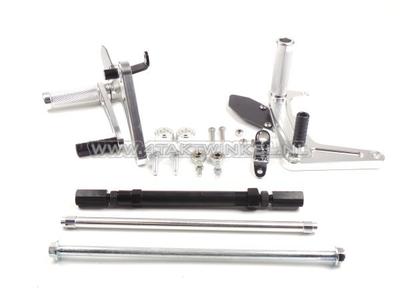 Backstep kit, C50, C70, C90, streetcub, Kepspeed, aluminum