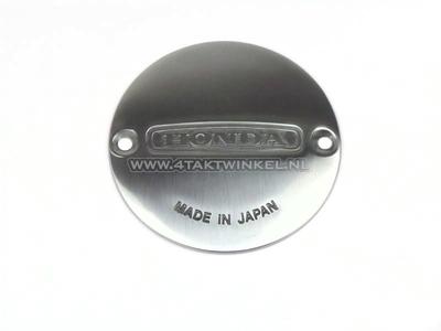 Ignition cover, breaker points inspection, original Honda