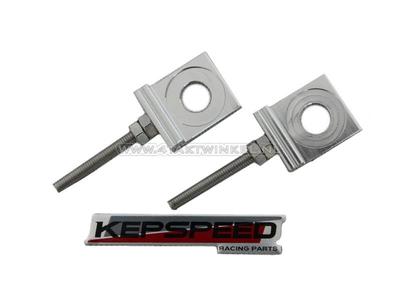 Chain tensioner set, for C50, SS50, CD50 Kepspeed swingarm, Aluminum