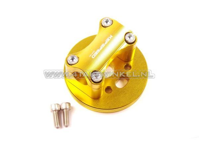 Triple clamp C50, for 22mm handlebar, gold