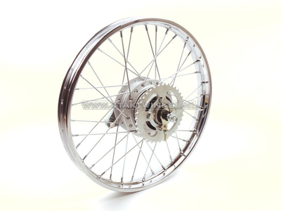 Wheel complete, rear wheel, 17