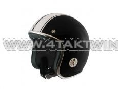 Helmet MT, Le Mans, Black / white, Sizes S to XL