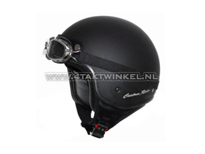 Helmet MT, Custom Rider, matt black, Sizes S to XL