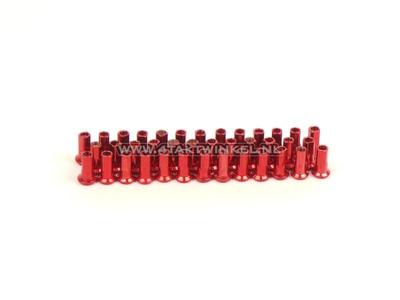 Spoke nipple set, 36 pieces, streetcub, red