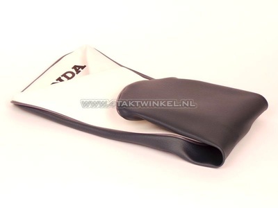 Seat cover C310 gray / white, Honda print, aftermarket