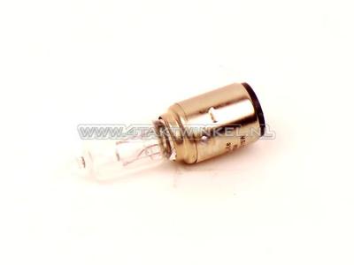 Bulb headlight BA20d, dual, 6 volts, 15-15 watts, halogen, e.g. Dax