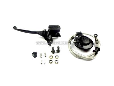 Lever hydraulic, left, hydraulic clutch set, black Kepspeed