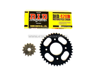 Sprockets and chain set, CRF50, standard