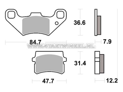 Brake pads, universal, Skymax pro, upside-down fork, Lucas