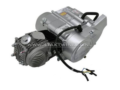 Engine, 50cc, semi-automatic, Lifan, 4-speed, silver